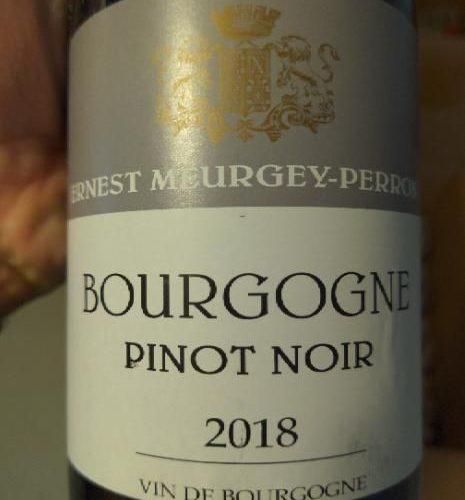 Ernest Meurgey-Perron, Bourgogne Pinot Noir 2018